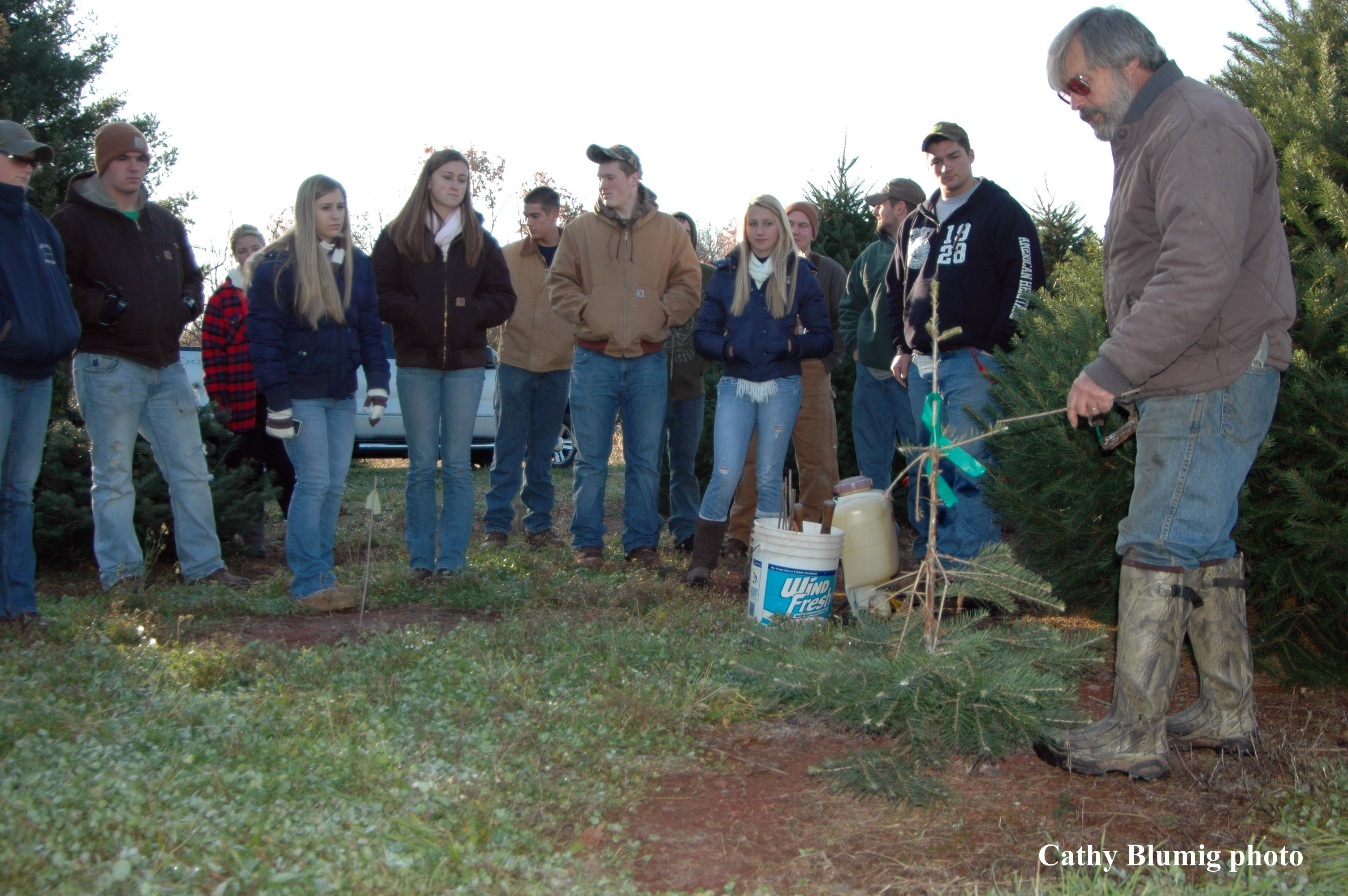Phillipsburg High School FFA Visits Central Jersey\'s Wolgast Tree Farm