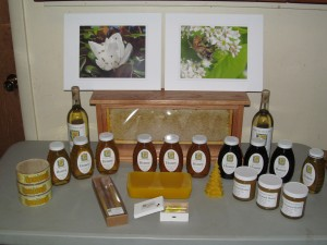 The were all the items that Cathy entered in the State honey Show this year, except for the photo on the right which was entered by her Mother.